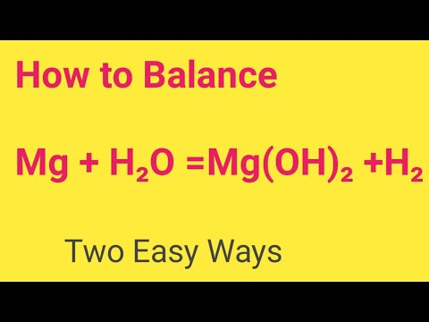 Mg + H2O =Mg(OH)2 +H2 Balanced Equation||Magnesium+Water=Magnesium oxide Balanced Equation