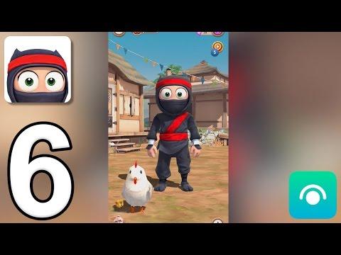 Clumsy Ninja - Gameplay Walkthrough Part 6 - Level 9-10 (iOS, Android)