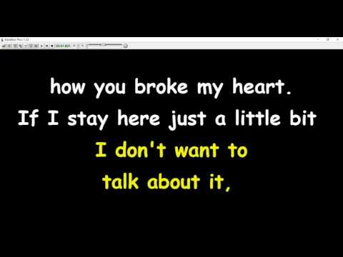 Rod Stewart -  I Don't Want To Talk About It (karaoke)