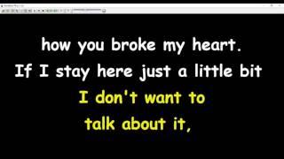 Rod Stewart - I Don't Want To Talk About It (karaoke)