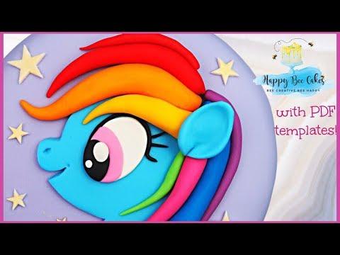 Easy RAINBOW DASH Cake Tutorial | My Little Pony Cake