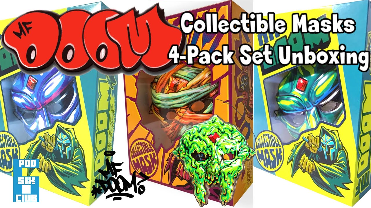 MF DOOM Collectible Mask 4 Pack Collection Unboxing