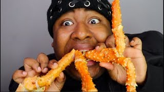 KING CRAB LEGS Mukbang : The ACE Family Leaving Youtube ..NEXT (SEA FOOD BOIL)