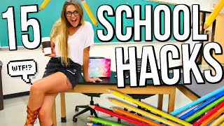15 school life hacks for back to school 2017-2018 everyone needs to know!