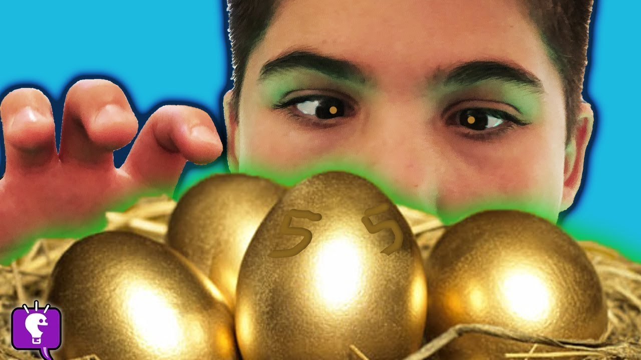 We Find Mystery GOLDEN EGGS From DrGOLD! Nest Plank Challenge by HobbyKidsTV