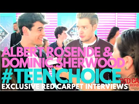 Albert Rosende & Dominic Sherwood interviewed at the 2016 Teen Choice Awards Teal Carpet #TeenChoice