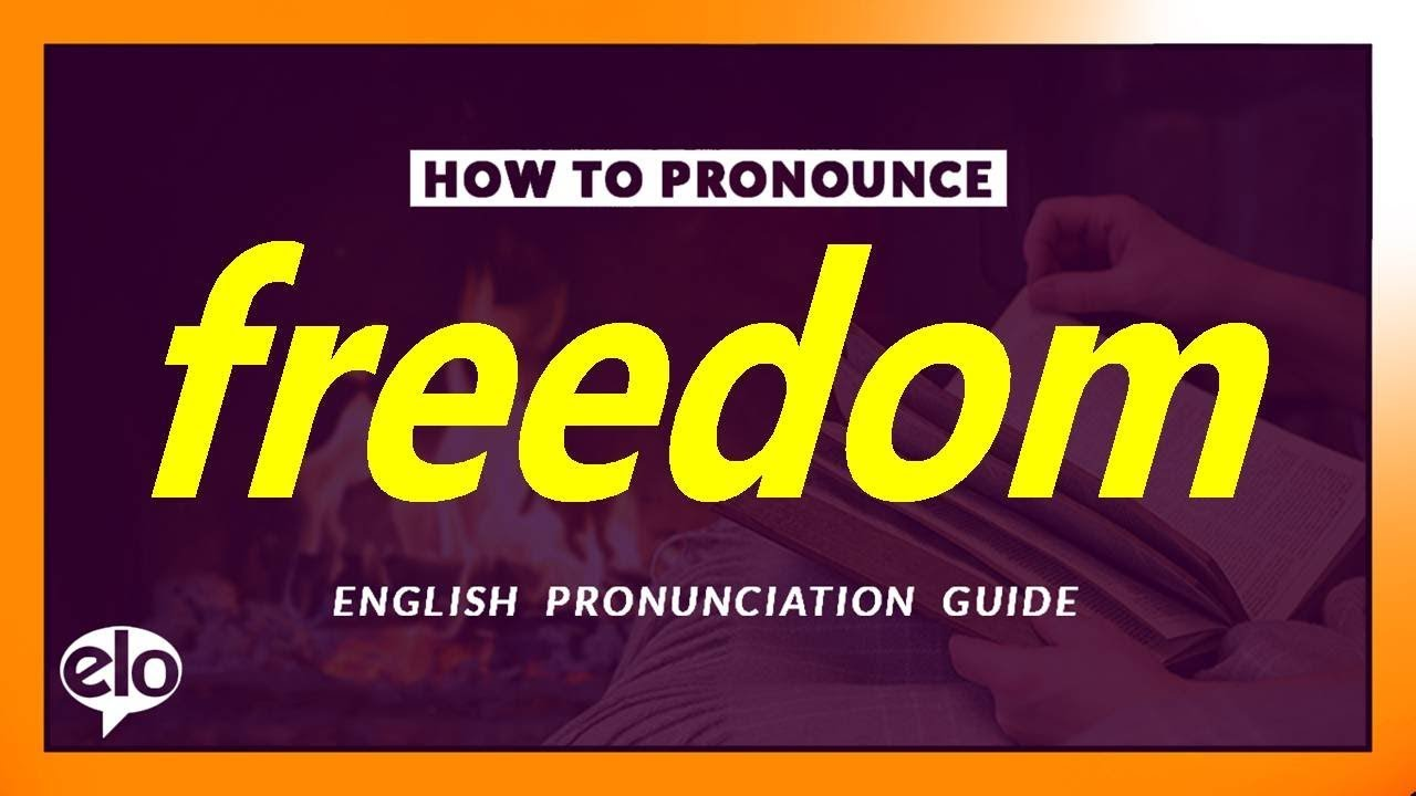 How To Pronounce Freedom  Pronunciation and Definition (Human Voice)