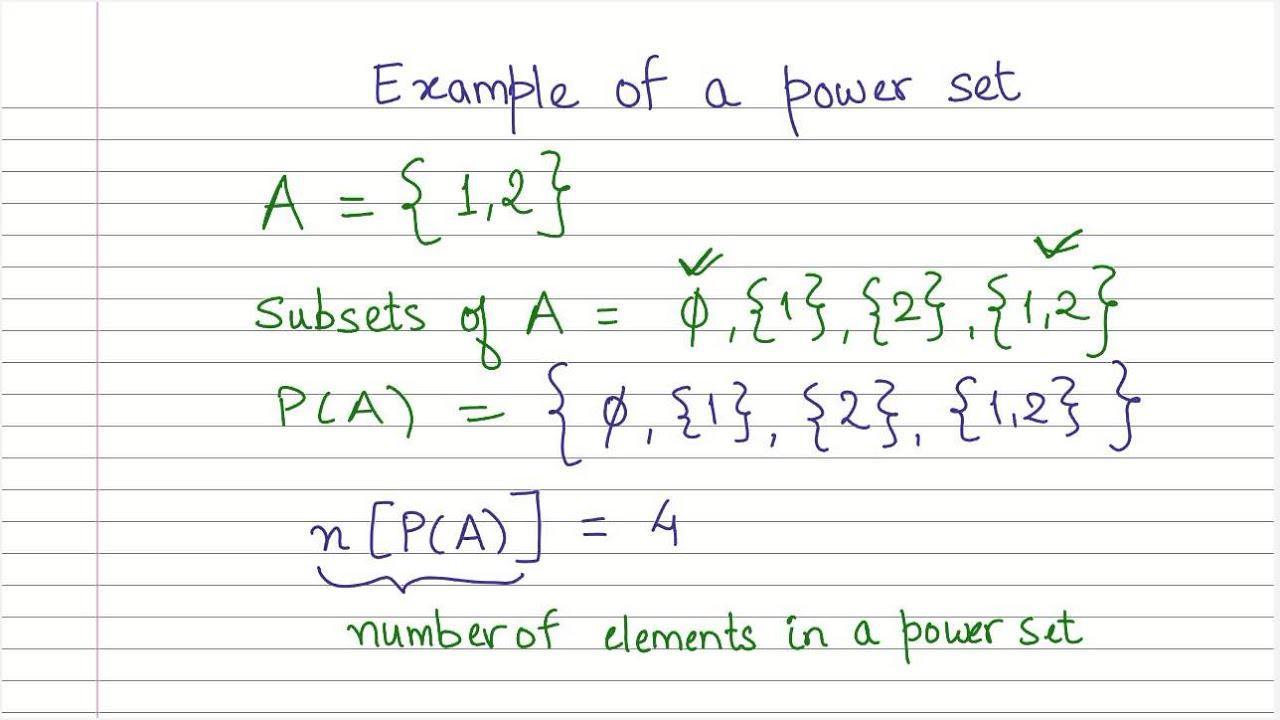 Sets10 Power Sets Cbse Maths Youtube