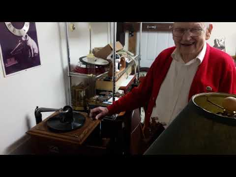 Antique Record Player at Kenneth's Clock Shop