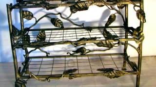 Кованая полка для обуви, красивый дизайн в растительном стиле ковка из металла.(, 2017-03-27T08:29:26.000Z)