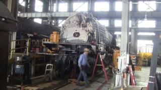 Union Pacific 844 in steam shop 2016 UPdate(UP Steam Shop open house 2016 finds 844 restoration is wrapping UP on May 21, 2016 . The big question now is, will it be ready in 60 days for the Denver Post ..., 2016-05-23T14:23:30.000Z)