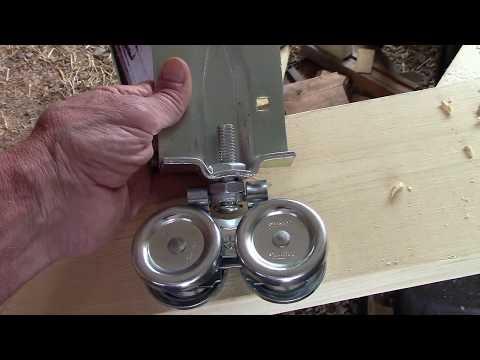 How to build & install a Sliding barn door~ DIY