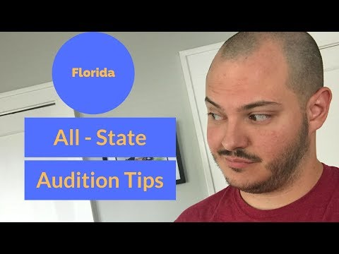 All State Audition Info and Tips for Florida (Aaron K. Campbell)