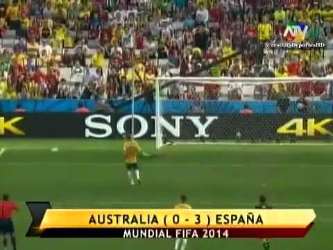 Australia vs España (0-3)   Mundial Brasil 2014   ATV