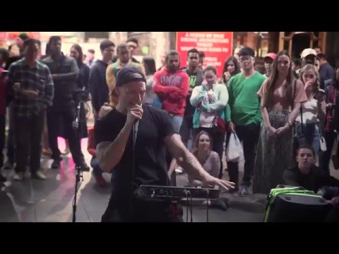 Street performances at White Night 2016 - Melbourne, Australia