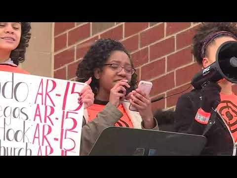 Enough is enough! Student reads poem during Firestone High School walkout in Akron