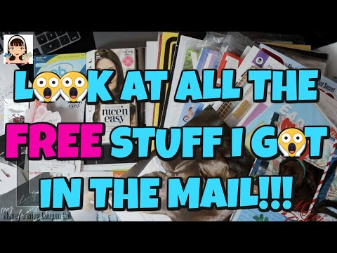 LOOK AT ALL THE FREE STUFF I GOT IN THE MAIL!!!