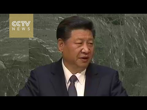 President Xi Jinping addressed the UN Sustainable Development Summit