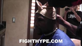 FLOYD MAYWEATHER EXCLUSIVE: BARBERSHOP TALK LESS THAN 12 HOURS AFTER VICTORY OVER PACQUIAO