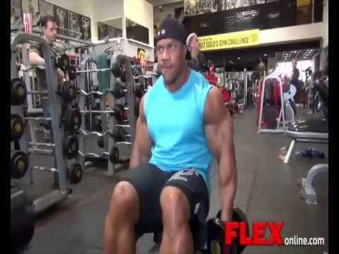 Mr Olympia Phil Heathtraining at Golds Gym for a Photoshoot   Part 2