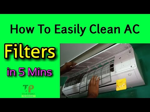 How to Clean Split AC Filters at home 😊😊