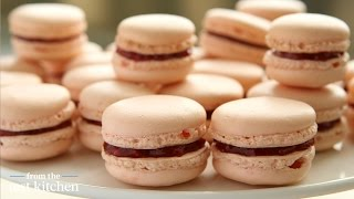 french rose raspberry macarons from the test kitchen
