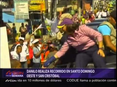 Danilo realiza recorrido en Santo Domingo Oeste y San Cristóbal