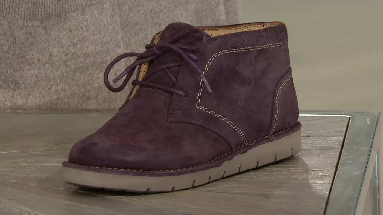 Clarks UnStructured Leather Lace-up Boots - Un.Austin on QVC - YouTube 6e9e30987f