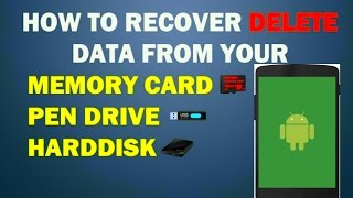 how to recover deleted data from usb,memory card,hard disk partion recovery ,android,