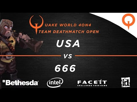 USA vs 666 - QuakeWorld 4vs4 (QuakeCon 2016)