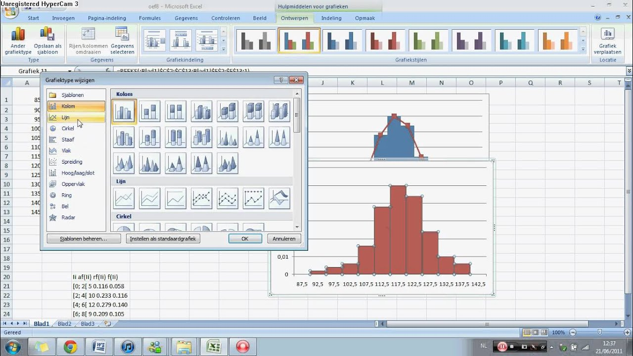 how to make histogram in excel 2007 youtube
