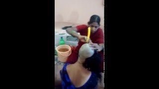 Repeat youtube video Beautiful Blue Saree Shaved   Lady Barber   Indian women headshave   Superb Ending   HD Mp4