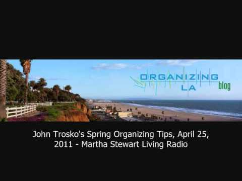 Los Angeles Professional Organizer John Trosko on Martha Stewart Living Radio