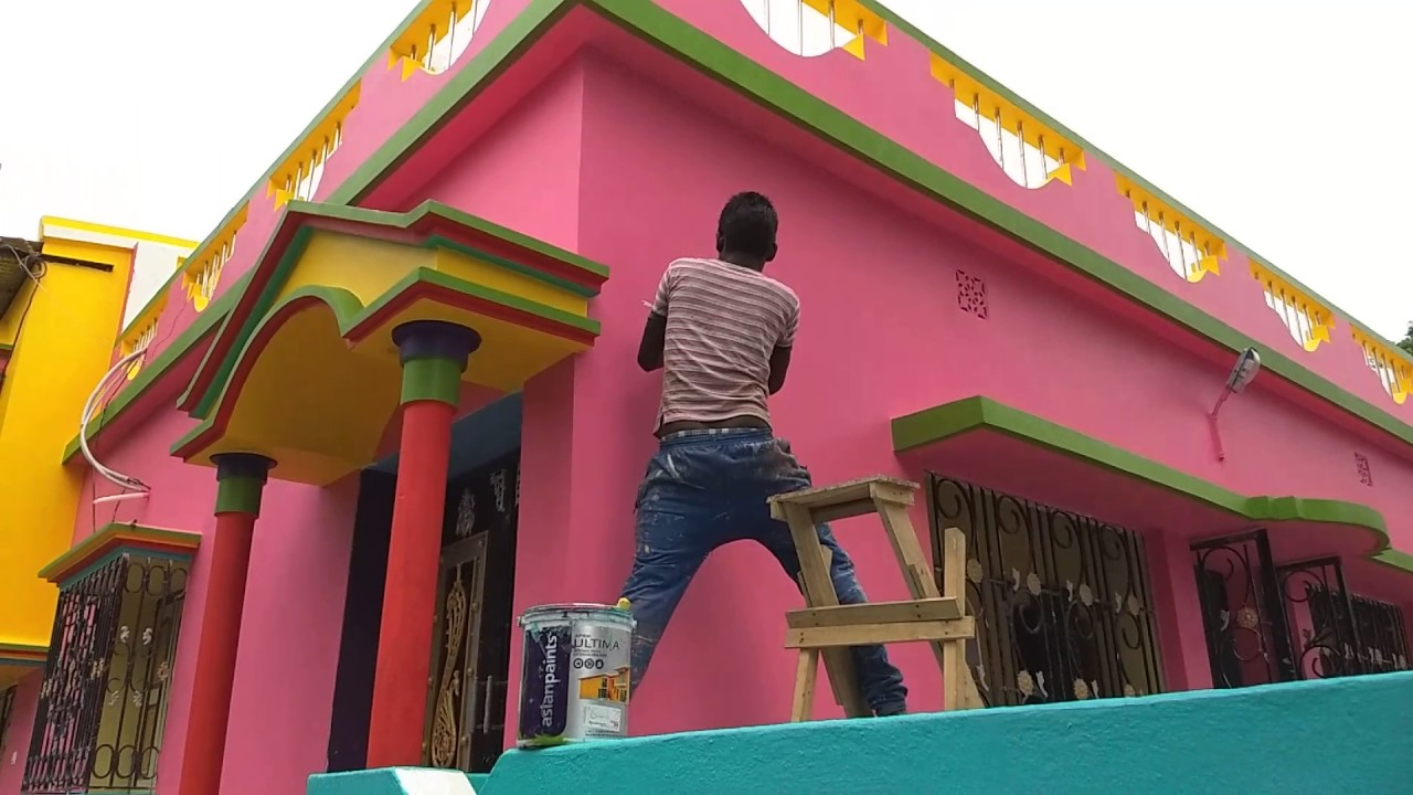 Raju Mandal paint a house....Char kadir pur...Asian paints - YouTube