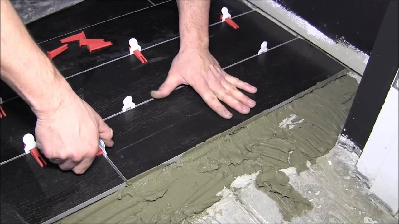 How To Install X Porcelain Tiles With Perfect Level Master YouTube - Best thinset for large porcelain tile