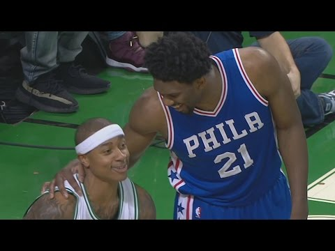 Isaiah Thomas Loses Shoe! Joel Embiid Dunks! Al Horford Clutch 3 76ers vs Celtics