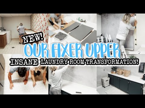 RENOVATING OUR RANCH FIXER UPPER | INSANE LAUNDRY ROOM TRANSFORMATION | BEFORE AND AFTER! - Denise Bangiyev