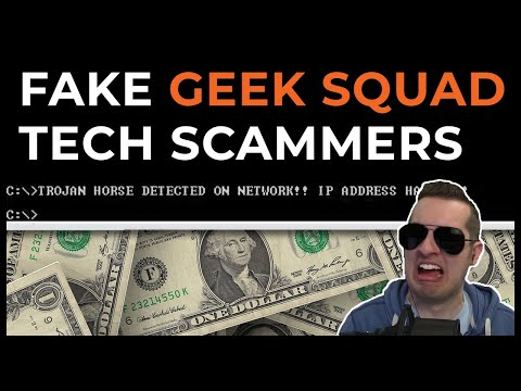Fake Geek Squad Tech Support Scammers Exposed [Full Call]
