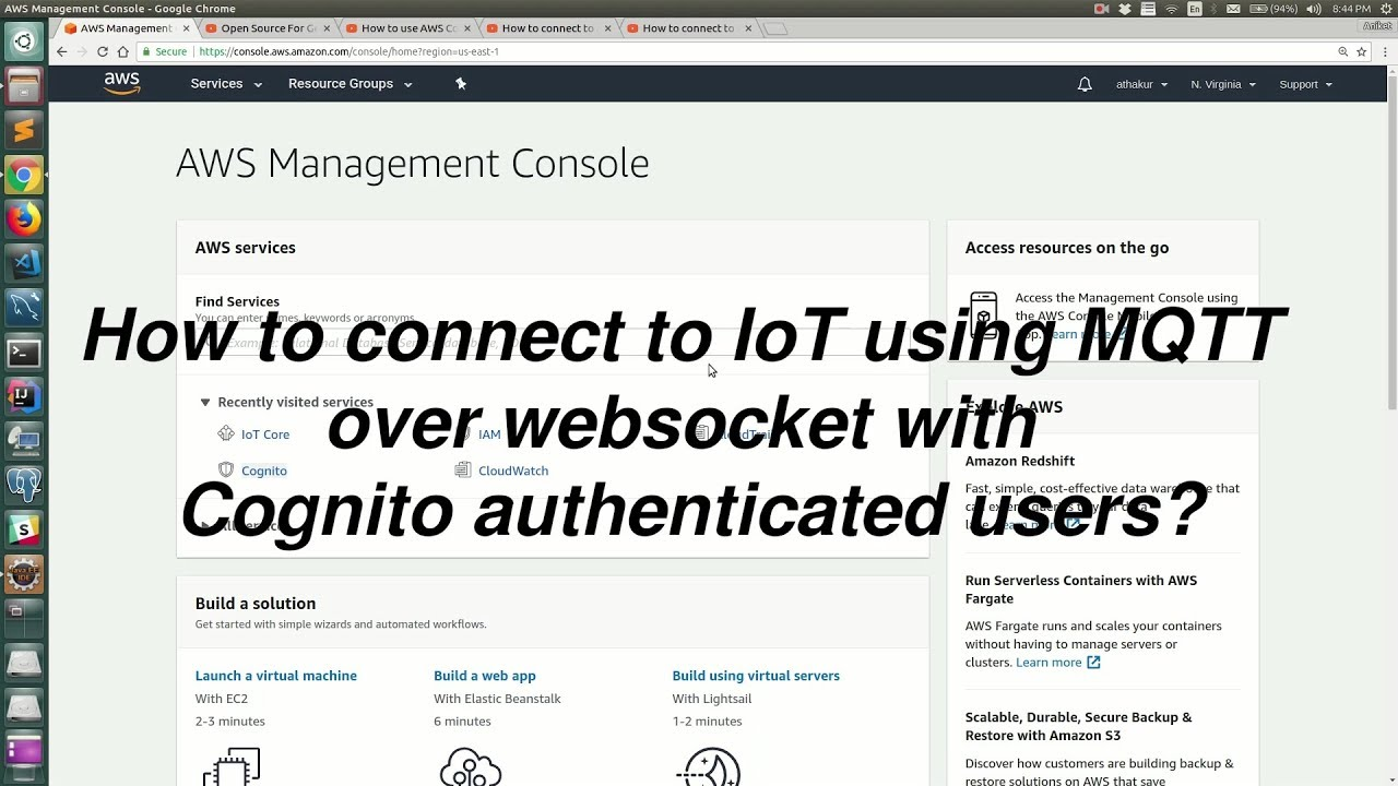 How to connect to IoT using MQTT over websocket with Cognito authenticated  users?