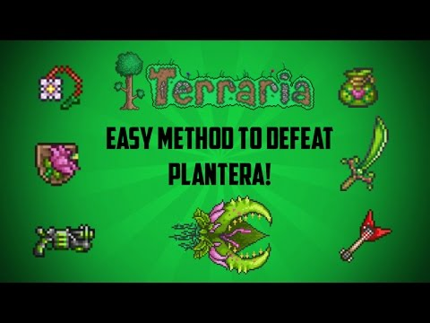 Terraria ios 1.2.4 | How to defeat Plantera (Easy Method!) 2017