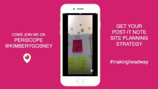 Your Post-It Note Site Planning Strategy #makingheadway