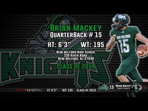 Brian Mackey 2018 Senior Midseason Highlights (QB   New Milford   2019)