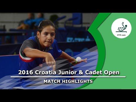 2016 Croatia Junior & Cadet Open Highlights: Jamila Laurenti vs Natalia Brinza (Final)