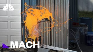 Scientists Are Creating Batches Of Homemade Lava To See It Explode | Mach | NBC News