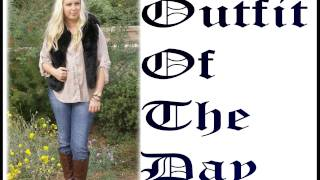 OOTD Outfit Of The Day - Thriftshop Shirt & Faux Fur Vest Thumbnail