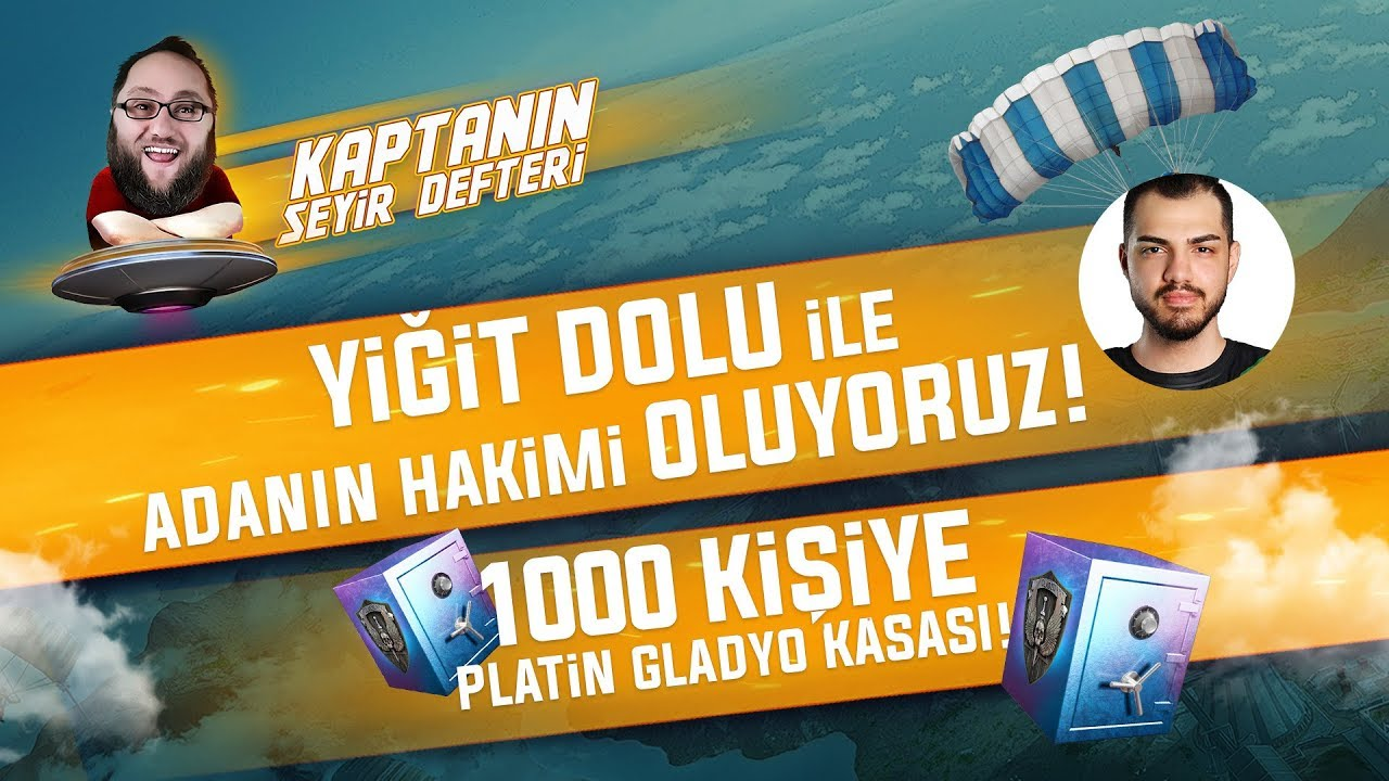 KAPTANIN SEYİR DEFTERİ 1000 KİŞİYE PLATİN GLADYO KASASI  /w YiğitDolu