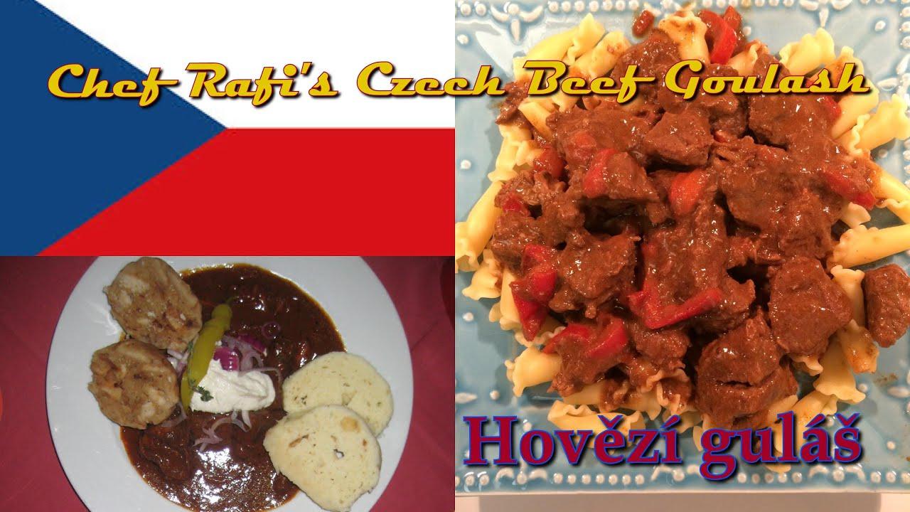 Hovězí guláš (Czech Beef Goulash) - In Czech and English