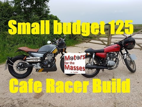 On this episode we take a cheap 125 commuter bike and turn it into a brat cafe racer. You'll be amazed at the low cost and the awesome outcome. Step inside ...