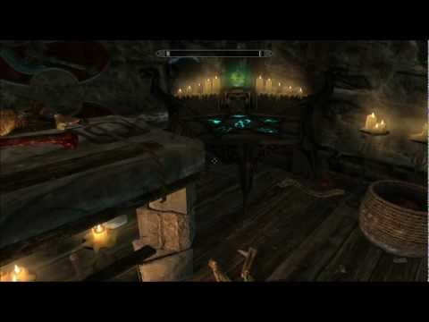 Skyrim Commentary - Hjerim House Tour Windhelm Home Fully Upgraded