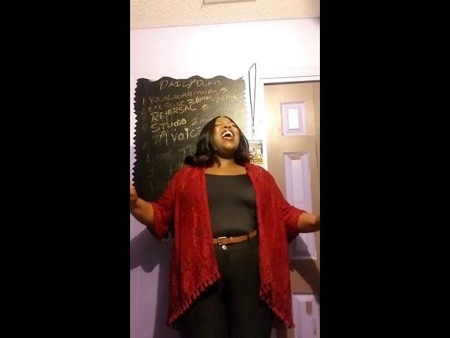 Raven Salve' Singing The National Anthem